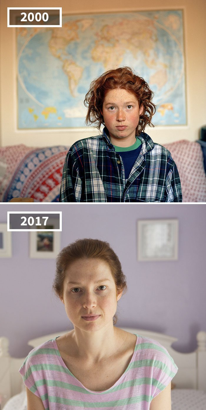 Photographer Shows How Differently People Age In 2000 And Then In 2017 Again