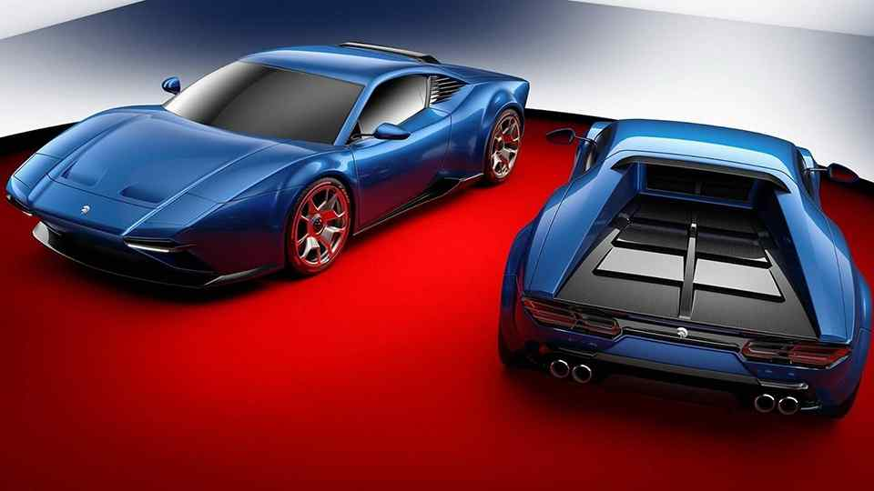 ARES Design Project Panther 70s Styled Bespoke Supercar