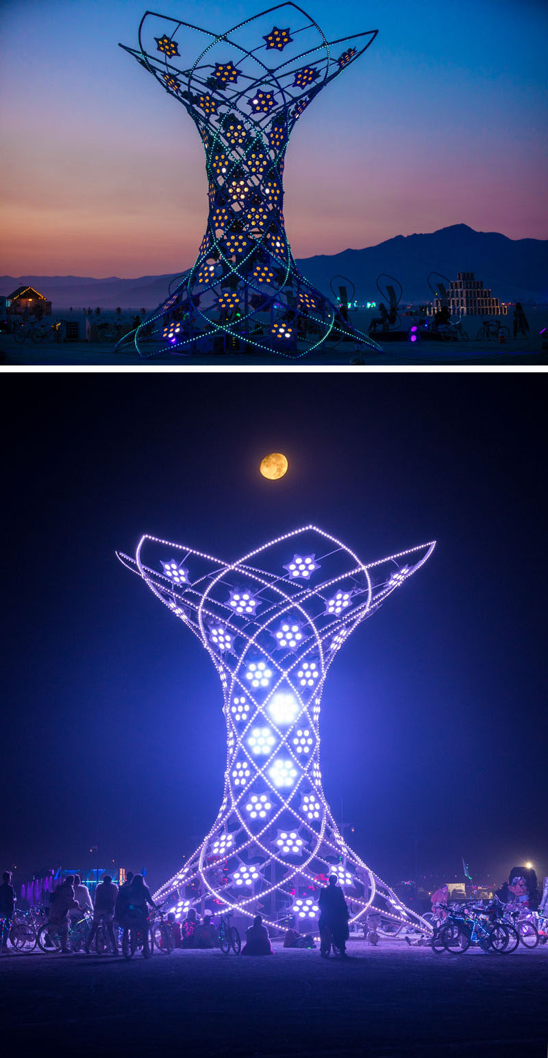 37-Foot Tall Ilumina Art Installation at Burning Man 2017