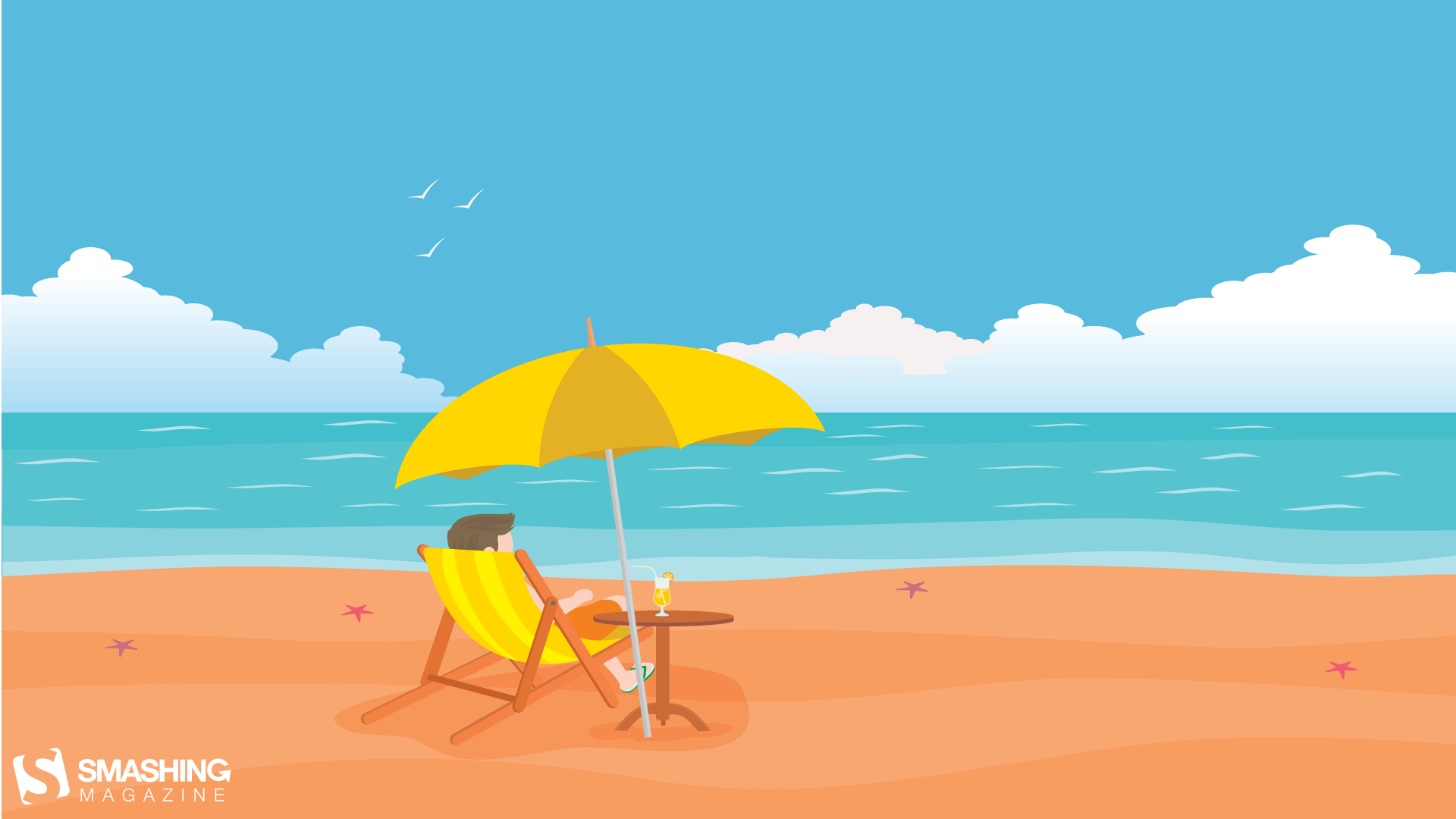Beach Summer Cocktail HD Wallpaper 1920x1080