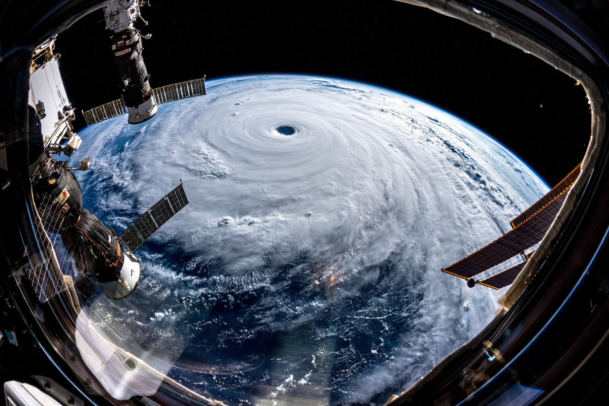 Astonishing Photos of Super Typhoon Trami Taken From Outer Space