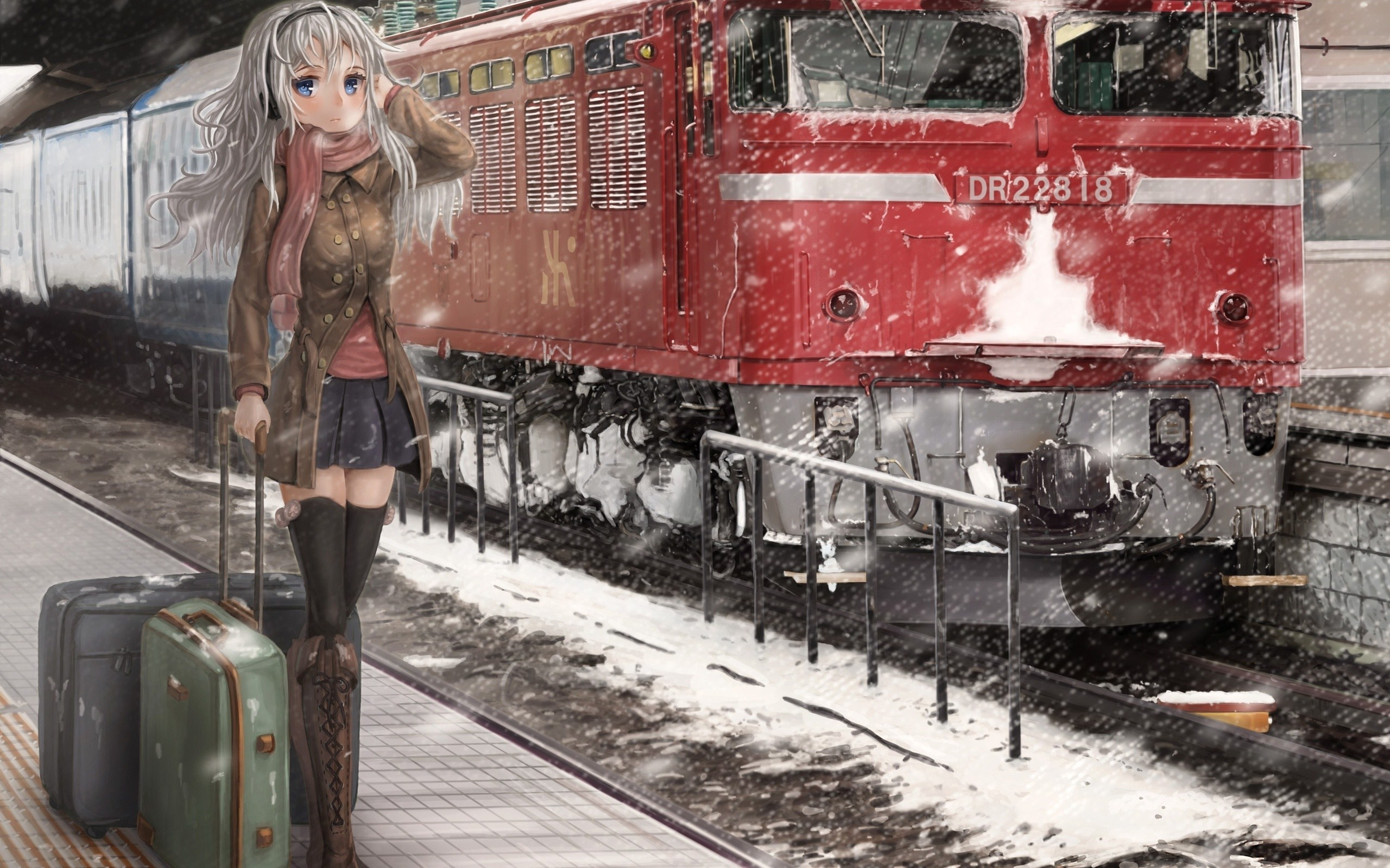 winter anime wallpapers