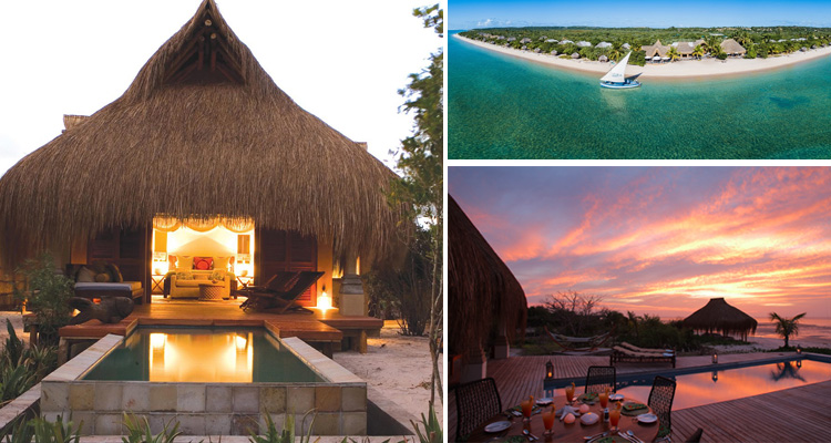 Luxury Thatched Villas on the Sunny Shores of Benguerra Island