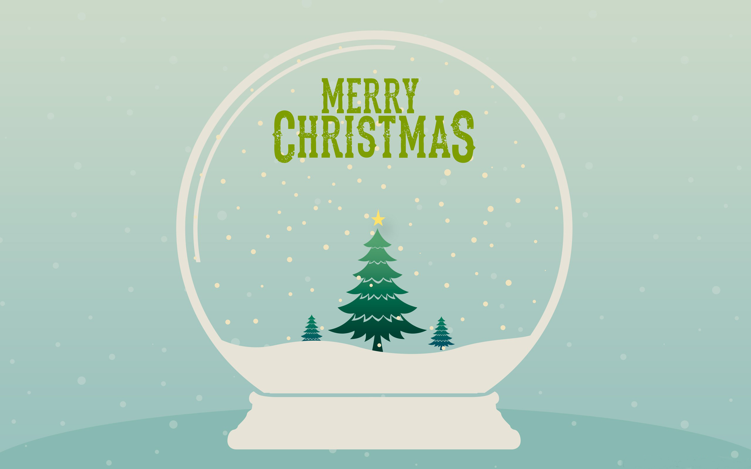 merry christmas snow globe minimalist wallpaper