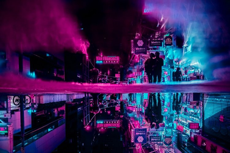 Electric Photos Captured Nighttime Neon Streets in Hong Kong