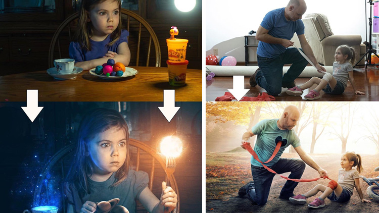 Before and after Photoshop images Kevin Carden