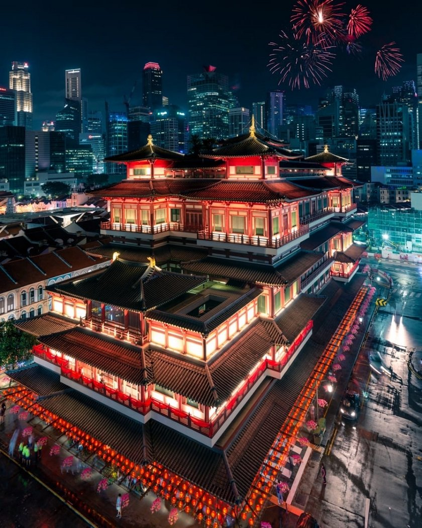 """Chinese New Year in Singapore"" by Ghislain Fave, France. Location: Buddha Tooth Relic Temple, Chinatown, Singapore"