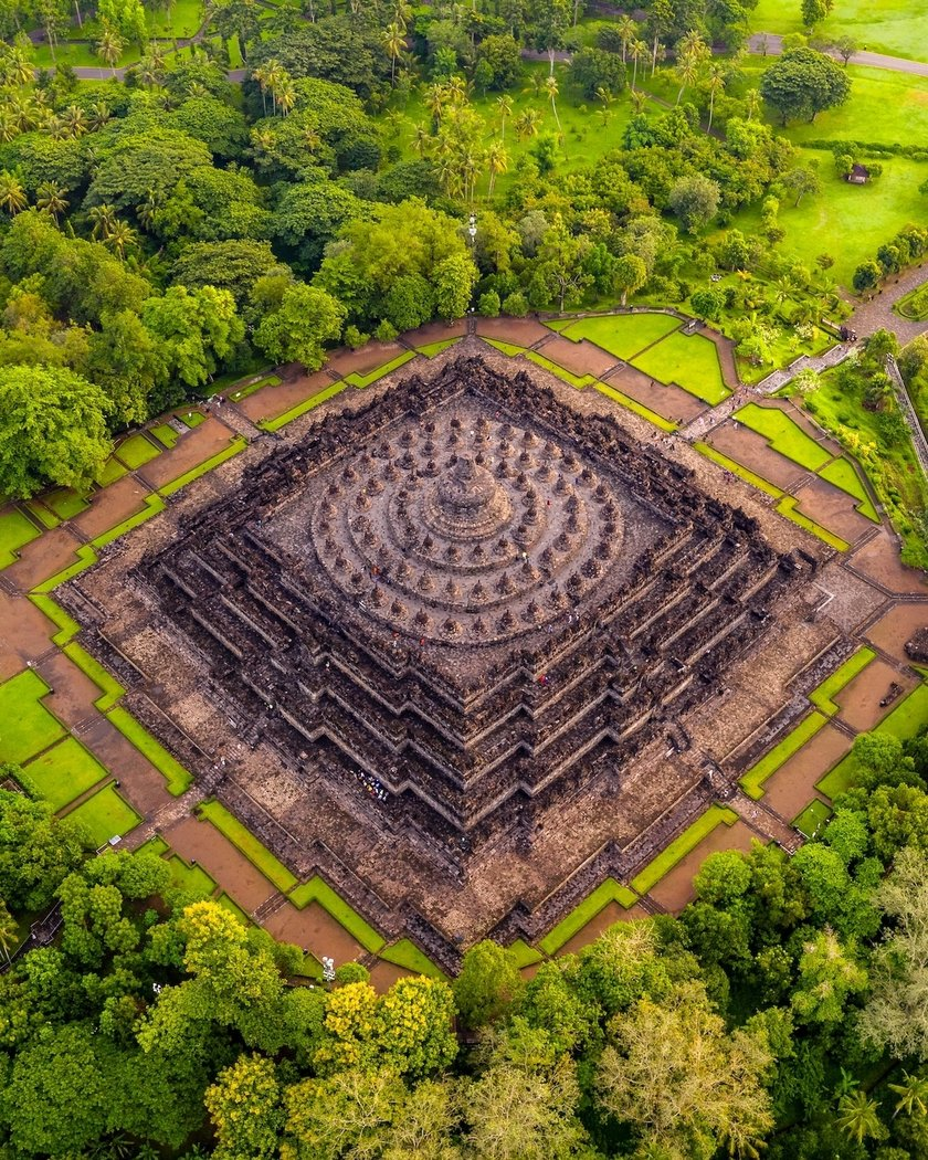 """Surrounded by 72 Buddha statues – The Great Candi Borobudur"" by chaksproject, Indonesia. Location: Borobudur, Magelang, Indonesia"